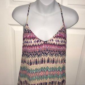 Tommy Hilfiger Hi-Lo Pleated Maxi Dress